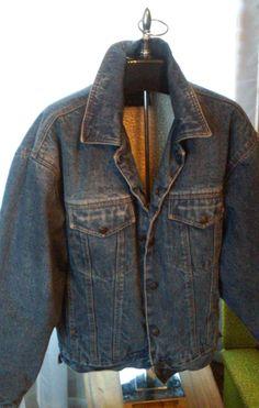 Vintage Lined Denim Jacket / Vintage Lined Jean Jacket / Denim Jacket Lined with Faux Sheepskin by thesoupison on Etsy