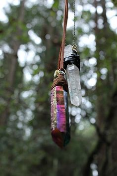 Hang crystals in your Witches' Garden to ward off negativity and increase…