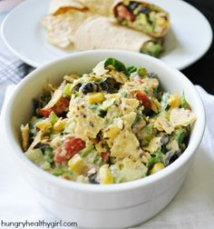 Chopped Southwestern Tuna Salad | Perfect for game day, use it as a dip, wrap or sandwich! If you don't like tuna just sub in chicken.