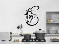 Cook Chef Cafe Dining Room Kitchen Decor Wall Vinyl Decal Art Sticker Home Modern Stylish Design Interior Decor for Any Room Smooth and Flat Surfaces Housewares Murals Window Graphic Living Room (3842) stickergraphics http://www.amazon.com/dp/B00IHEINYQ/ref=cm_sw_r_pi_dp_KArUtb17Y6H936ZD