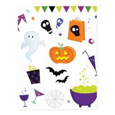 #Icons halloween postcard - #Halloween happy halloween #festival #party #holiday #kids #children