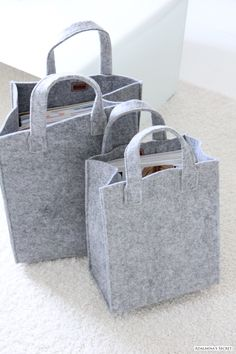 felt bags...these are absolutely gorgeous when you cover around them with recycled jeans and embroidery!!! A good sturdy bag.