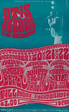 poster for otis redding & his orchestra at the fillmore (by wes wilson)