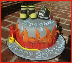 fireman's cake Cake by Sugar dreams