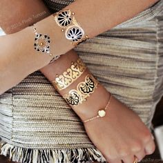 Aurelie Flash Tattoos with Swarovski Crystals | Temporary Tattoos