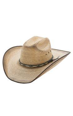 Resistol Hats Jason Aldean Amarillo Sky Bound Edge Palm Leaf Cowboy Hat