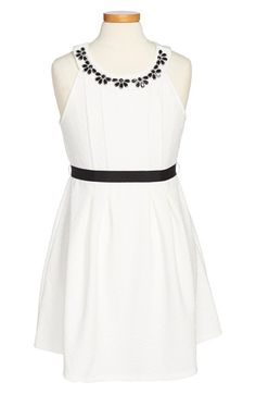 Monteau Couture Crystal Neckline Sleeveless Dress (Big Girls) available at #Nordstrom