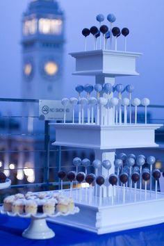 Wedding Cake Pops, Hotel Vitale, cake pops by Sweet Lauren Cakes: www.sweetlaurencakes.com