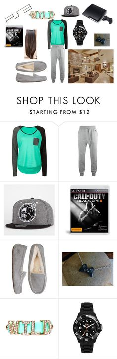 """""""GAMING NIGHT!!!!"""" by shadysqueen ❤ liked on Polyvore featuring Volcom, AllSaints, Trukfit, UGG Australia, Sony, 2b bebe and Ice-Watch"""