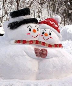 Snow couple - Aren't they just so CUTE??