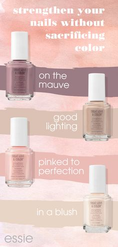 give your nails some TLC with NEW treat love & color. our first advanced 1-step care & color nail polish! nails look instantly perfected and polished with visually brightening pigments in the prettiest of sheer, crème and shimmer nail polish shades. exper
