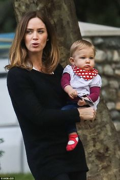 Bonding: Emily Blunt is clearly loving every moment of motherhood as she was spotted on Friday doting on her adorable 10 month old at a park in Beverly Hills