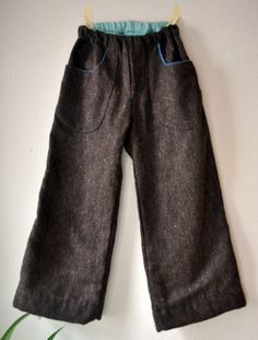 handmade wool pants...Love these for Landen! maybe an old wool skirt or sports coat and a soft flannel?