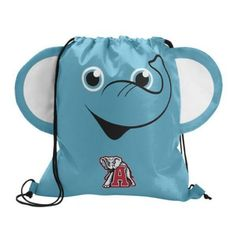 The Custom Branded Paws & Claws Elephant Drawstring Backpack has a elephant face with fun 3-dimentional features, double drawcord closure, and a large imprint area