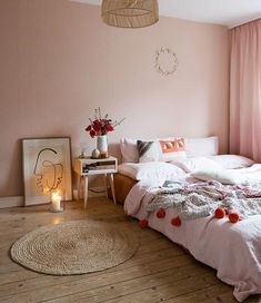 Werbung/AD Soft tones in our bedroom with a few small splashes of color. Lots of nice details like the bedding or the cushions and the… Diy Room Decor, Bedroom Decor, Cute Room Ideas, Casa Real, Aesthetic Bedroom, Fashion Room, My New Room, Online Home Decor Stores, Apartment Living