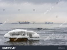 Ice floe on sea. Sea landscape in winter. Stock photography, images, pictures, Illustrations, ideas. Download vector illustrations and photos on Shutterstock, Istockphoto, Fotolia, Adobe, Dreamstime