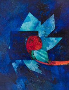 GIANNI DOVA Rome, 1925 - Pisa, 1991  Night flower, 1970 Oil on canvas, 129 x 98 cm circa Signed lower center: Dova Labels on the back of Galleria Arte Borgogna, Milan and of Galleria Baukunst, Köln