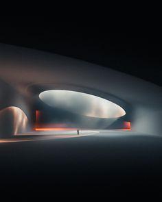 Conceptual Architecture, Futuristic Architecture, Interior Architecture, Futuristic Design, 3d Fantasy, Fantasy Landscape, 3d Modellierung, Scenic Design, Stage Design