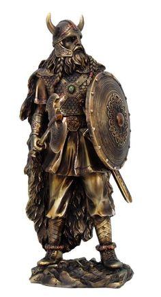Viking Chief Warrior Warlord Statue Odin Figurine Norse Mythology Battle Rally | eBay:
