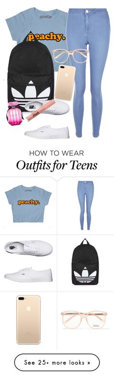 """""""Something ain't right when we talkin?"""" by iamthewalrusbitch on Polyvore featuring New Look, Topshop, Vans, Victoria's Secret, Too Faced Cosmetics and Chloé"""