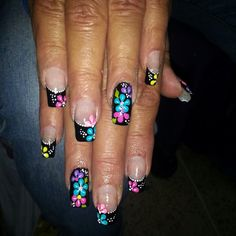 Fingernail Designs, Long Nail Designs, Nail Art Designs, Long Nail Art, Cute Nail Art, Cute Nails, Fabulous Nails, Perfect Nails, Gorgeous Nails