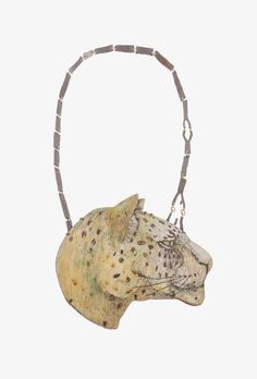 Tabea Reulecke and Danni Schwaag show their jewelry in Munich in the gallery tal20: http://artaurea.com/2015/soulful-and-colorful/ Foto:Tabea Reulecke, necklace Leopard, 2014. Oxidized silver, 750 gold, enamel on copper. 35 × 14 × 1 cm.