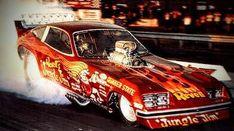 A nostalgic look back at drag racing funny cars from the Funny Car Drag Racing, Nhra Drag Racing, Funny Cars, Jungle Jim Liberman, Speedway Grand Prix, Outlaw Racing, Jungle Jim's, Racing Events, Vintage Race Car