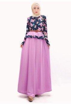Wanita Pakaian Dress Long Dress Bridesmaid Double Layer Maxi