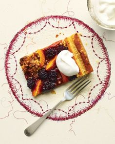 Apricot-Blackberry Puff Pastry Tart - Purchased puff pastry is a wonderful shortcut for making summer fruit pies. Here, a sheet of the thawed pastry is topped with toasted walnuts, brown sugar, sliced apricots, and blackberries, and baked to a tender golden brown.
