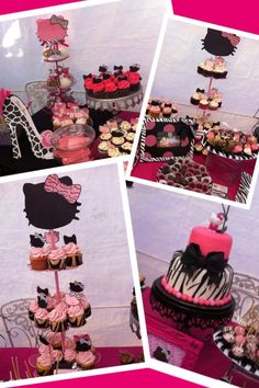 30 Girls Birthday Party Ideas Pink zebra party Themed birthday