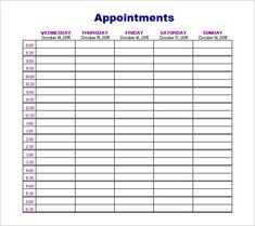 patient appointment scheduling template excel