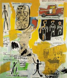 """Aboriginal""   1984  Jean-Michel Basquiat I'm loving his work more and more...and more."