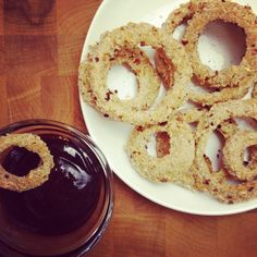 spicy baked onion rings | the kitchen paper