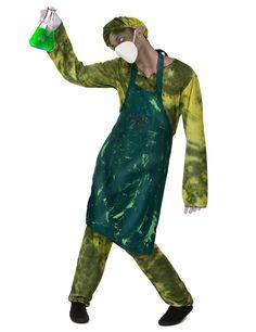 Déguisement chirurgien radioactif homme : Ce déguisement de chirurgien radioactif pour homme comprend un t-shirt, un pantalon, un tablier, un masque et une coiffe (fiole, gants et chaussures non inclus).Le haut, la coiffe et le... Faux Sang, Costume, Apron, Halloween, Fashion, Headdress, Gloves, Moda, Fashion Styles