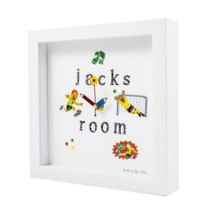 Handmade Unique Clocks direct from Cork, Ireland. Bespoke fun clocks handmade to order, great for gifts and occasions. Handmade Clocks, Unique Clocks, Personalized Clocks, Clock For Kids, Childrens Gifts, Kids Room, Frame, Fun, Crafts