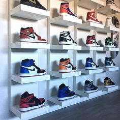 The Best Nike Sneaker. Shoe Wall, Shoe Room, Shoe Closet, Jordan 1, Streetwear, Yeezy, Sneaker Storage, Sneaker Rack, Hypebeast Room