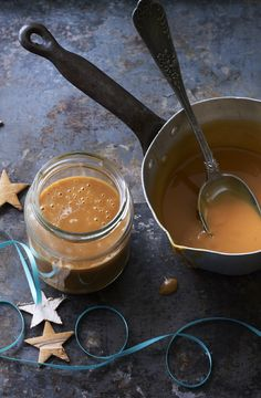 Completely easy and very naughty, salted caramel rum sauce makes a great gift. Serve on ice cream or eat with a spoon.