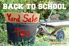 The perfect incentive to earn while you organize =)  Back to School Yard Sale Tips #bts #organize  www.gomominc.com
