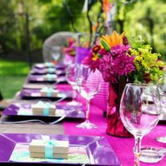 Purples & Pinks Outside Dining