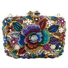 Butler and Wilson Flower Multi Clutch in Jewel Tones | ♥ jewel tones ♥)
