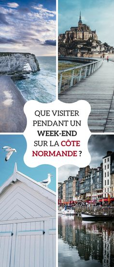 Autour de Paris : un week-end sur la Côte Normande - Road Trip France, France Travel, Week End France, Phuket, Travel Itinerary Template, Belle France, Day Trip From Paris, Voyage Europe, Roadtrip