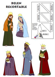 Nativity to cut and assemble Christmas Nativity, Christmas Printables, Paper Dolls, Paper Art, Family Guy, Seasons, Fun, Portal, Religion