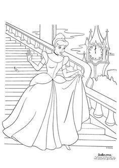 Tuhkimon tanssiaiset -värityskuva. Cinderella colouring.  Lasten Oman Kirjakerhon tulostettavat värityskuvat. Free printable pattern. lasten | askartelu | käsityöt  | värittäminen | DIY ideas | kid crafts | colouring