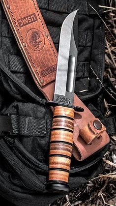 KA-BAR Full Size US Marine Corps Fixed Fighting Knife Blade