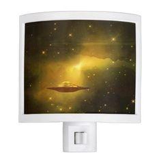 UFO alien galaxies space night light