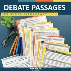 """You asked for upper grade fluency practice and we listened! 😍 These No Prep Classroom Debates for 3rd, 4th, and 5th Grade: Help students organize their thoughts Discover the """"why"""" behind their opinions Communicate with each other respectfully Provide students with the tools to conduct research Allow students to engage in critical thinking Second Grade Teacher, 3rd Grade Classroom, Fluency Practice, Comprehension Strategies, Vocabulary Activities, Critical Thinking Skills, Reading Intervention, Writer Workshop, Character Education"""