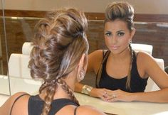 Beautiful fauxhawk hairstyle with braids for women