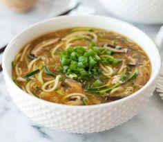 Spiralizer Recipes :Ginger Zucchini Noodle Egg Drop Soup