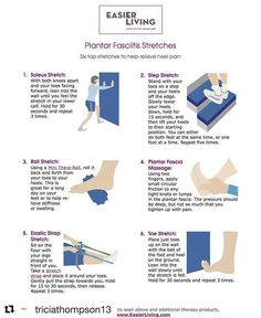 Painful 1st steps in the morning from Plantar Fasciitis? . Try these methods once the pain lessens. . Once you've found out which stretches are more practical for you, rotate them daily to help relieve pain and tension in the Plantar Fascia. ----------------------------------------------- www.feetfeet.co.uk ----------------------------------------------- #plantarfasciitissucks #neutralpronation #wornshoes #pronatedfeet #overpronation #footrehab #feetache #footweek #flatfeet #fallenarches…