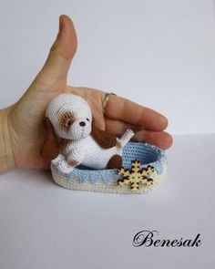 puppy  great idea to use up cotton thread left over bits